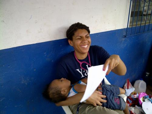 YSN student with patient's child