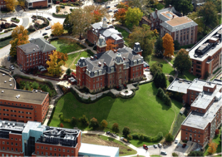 Aerial view of WVSU Campus